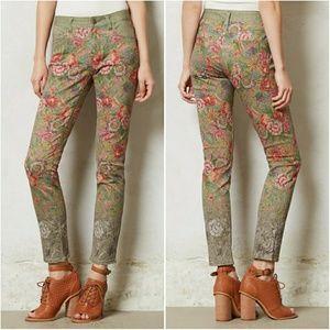 Pilcro Stet SlimAnkle Needlepoint Jeans Anthrop